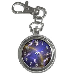 Fractal Magic Flames In 3d Glass Frame Key Chain Watches
