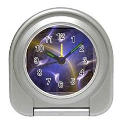 Fractal Magic Flames In 3d Glass Frame Travel Alarm Clocks