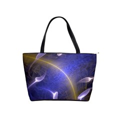 Fractal Magic Flames In 3d Glass Frame Shoulder Handbags