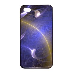 Fractal Magic Flames In 3d Glass Frame Apple iPhone 4/4s Seamless Case (Black)