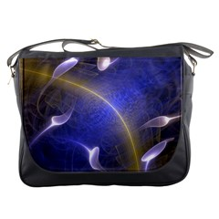 Fractal Magic Flames In 3d Glass Frame Messenger Bags