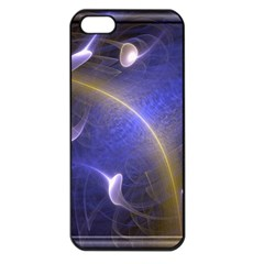 Fractal Magic Flames In 3d Glass Frame Apple iPhone 5 Seamless Case (Black)