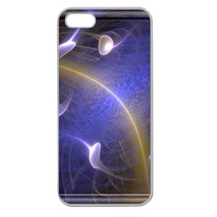 Fractal Magic Flames In 3d Glass Frame Apple Seamless iPhone 5 Case (Clear)