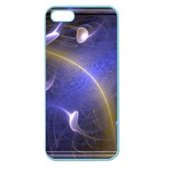 Fractal Magic Flames In 3d Glass Frame Apple Seamless iPhone 5 Case (Color)