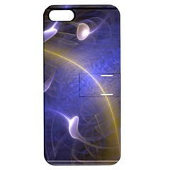 Fractal Magic Flames In 3d Glass Frame Apple iPhone 5 Hardshell Case with Stand
