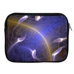 Fractal Magic Flames In 3d Glass Frame Apple iPad 2/3/4 Zipper Cases