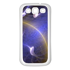 Fractal Magic Flames In 3d Glass Frame Samsung Galaxy S3 Back Case (white)