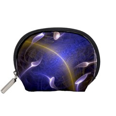 Fractal Magic Flames In 3d Glass Frame Accessory Pouches (Small)