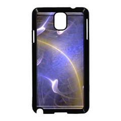Fractal Magic Flames In 3d Glass Frame Samsung Galaxy Note 3 Neo Hardshell Case (Black)