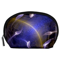 Fractal Magic Flames In 3d Glass Frame Accessory Pouches (Large)