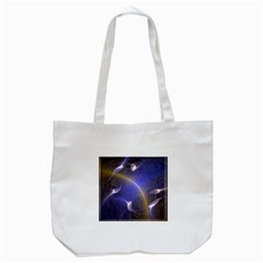Fractal Magic Flames In 3d Glass Frame Tote Bag (white)