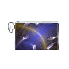 Fractal Magic Flames In 3d Glass Frame Canvas Cosmetic Bag (S)