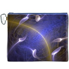Fractal Magic Flames In 3d Glass Frame Canvas Cosmetic Bag (xxxl)