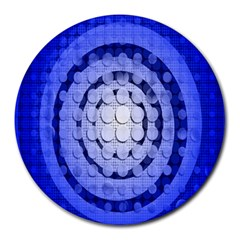 Abstract Background Blue Created With Layers Round Mousepads
