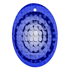Abstract Background Blue Created With Layers Ornament (oval)
