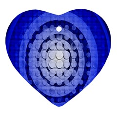Abstract Background Blue Created With Layers Ornament (heart)