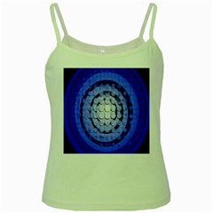 Abstract Background Blue Created With Layers Green Spaghetti Tank