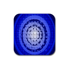 Abstract Background Blue Created With Layers Rubber Square Coaster (4 pack)