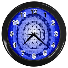 Abstract Background Blue Created With Layers Wall Clocks (black)