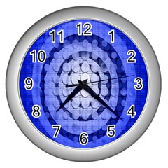 Abstract Background Blue Created With Layers Wall Clocks (silver)