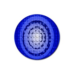 Abstract Background Blue Created With Layers Rubber Coaster (round)