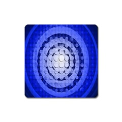 Abstract Background Blue Created With Layers Square Magnet