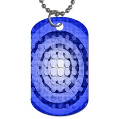 Abstract Background Blue Created With Layers Dog Tag (two Sides)