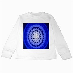 Abstract Background Blue Created With Layers Kids Long Sleeve T Shirts