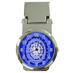 Abstract Background Blue Created With Layers Money Clip Watches