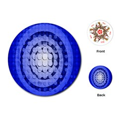 Abstract Background Blue Created With Layers Playing Cards (round)