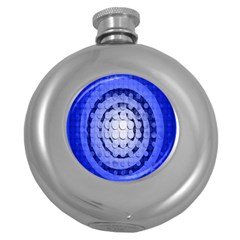 Abstract Background Blue Created With Layers Round Hip Flask (5 Oz)