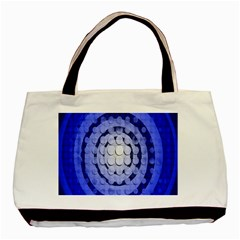 Abstract Background Blue Created With Layers Basic Tote Bag (two Sides)