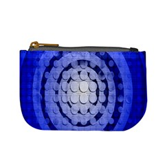 Abstract Background Blue Created With Layers Mini Coin Purses