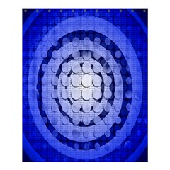 Abstract Background Blue Created With Layers Shower Curtain 60  X 72  (medium)