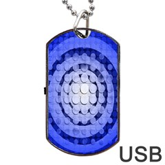 Abstract Background Blue Created With Layers Dog Tag USB Flash (Two Sides)