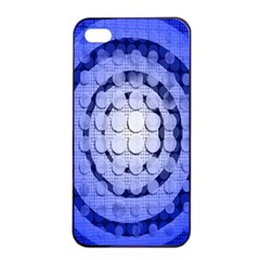 Abstract Background Blue Created With Layers Apple iPhone 4/4s Seamless Case (Black)