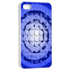Abstract Background Blue Created With Layers Apple Iphone 4/4s Seamless Case (white)