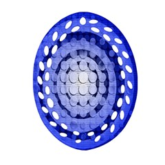 Abstract Background Blue Created With Layers Oval Filigree Ornament (Two Sides)