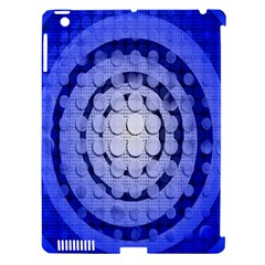 Abstract Background Blue Created With Layers Apple iPad 3/4 Hardshell Case (Compatible with Smart Cover)