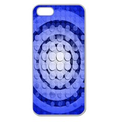 Abstract Background Blue Created With Layers Apple Seamless Iphone 5 Case (clear)