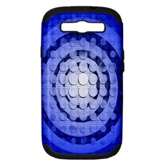 Abstract Background Blue Created With Layers Samsung Galaxy S III Hardshell Case (PC+Silicone)