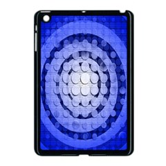 Abstract Background Blue Created With Layers Apple iPad Mini Case (Black)