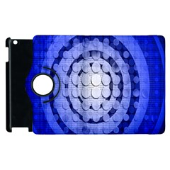 Abstract Background Blue Created With Layers Apple Ipad 2 Flip 360 Case