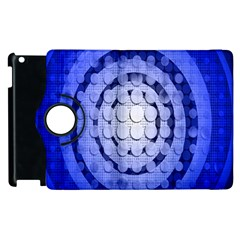Abstract Background Blue Created With Layers Apple iPad 3/4 Flip 360 Case