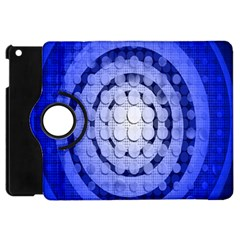 Abstract Background Blue Created With Layers Apple iPad Mini Flip 360 Case
