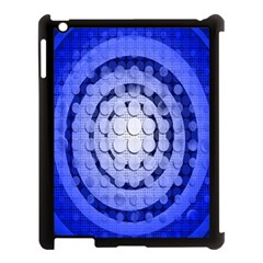 Abstract Background Blue Created With Layers Apple iPad 3/4 Case (Black)