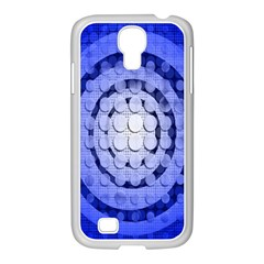 Abstract Background Blue Created With Layers Samsung GALAXY S4 I9500/ I9505 Case (White)