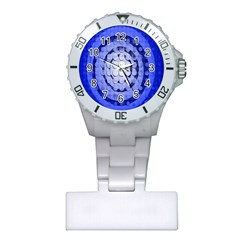 Abstract Background Blue Created With Layers Plastic Nurses Watch