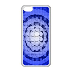 Abstract Background Blue Created With Layers Apple iPhone 5C Seamless Case (White)
