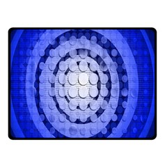 Abstract Background Blue Created With Layers Double Sided Fleece Blanket (Small)